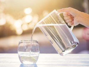 Drink up to 6-8 glasses of water per day