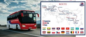 route of bus from Delhi to London