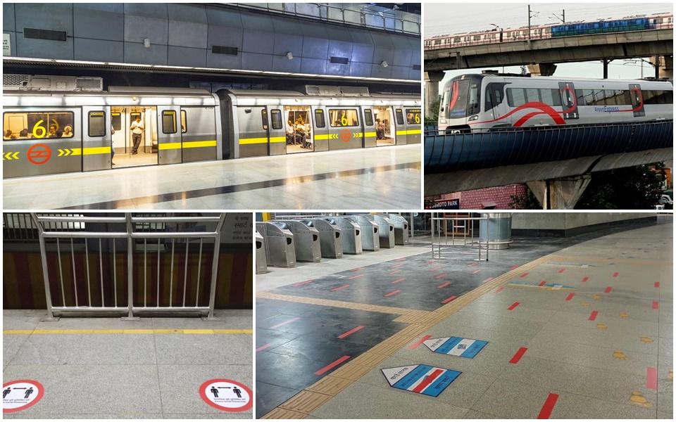 Delhi metro Covid guidelines